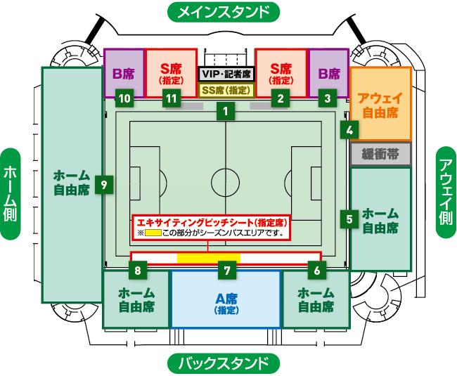 松本山雅チケット・座席図