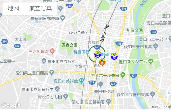 豊田スタジアム周辺コインパーキング